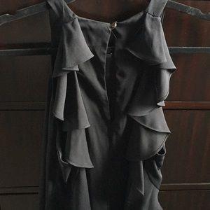 Everly Black Ruffle Back Dress